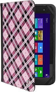 """まったく新しいマゼンタCheckerスマートデザインカバーケースfor Kindle Fireタブレット7インチ/ Kindle Fire HD 8タブレット8"""" Wi - Fi 8GB 16GB Withstand"""