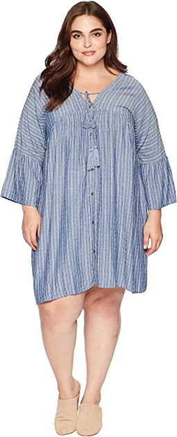 Plus Size Makena Long Sleeve Button Up Dress