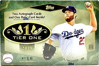2019 Topps Tier One MLB Baseball box (3 cards)