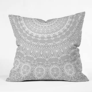 "Deny Designs Monika Strigel Waiting For You Grey Indoor Throw Pillow, 16"" X 16"""