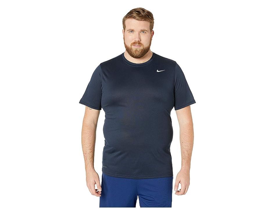 Nike Big Tall Legend 2.0 Short Sleeve Tee (Obsidian/Black/Matte Silver) Men