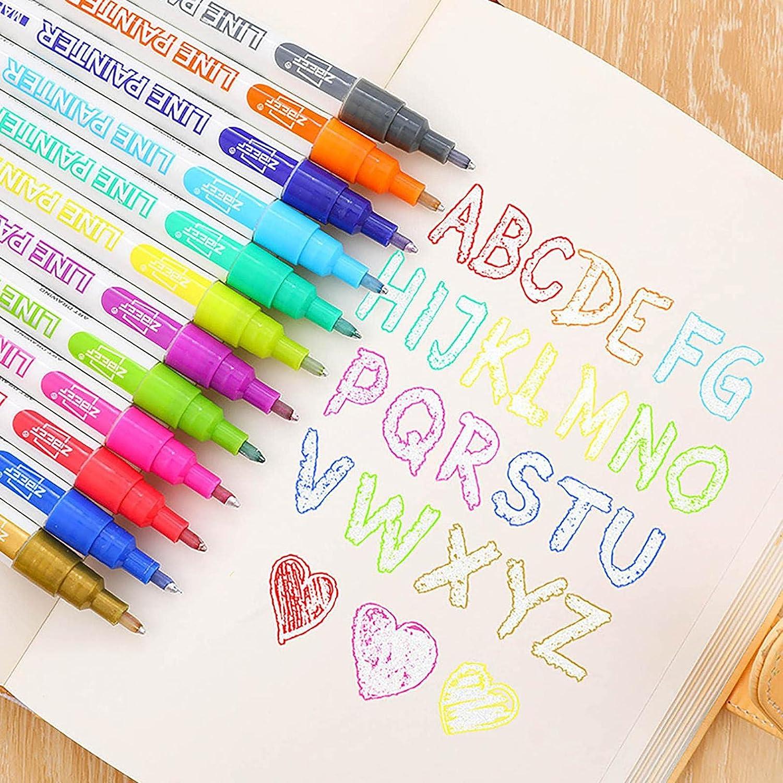 Double Line Outline Ranking TOP8 Pens - Metallic Colors Marke online shop Self 12