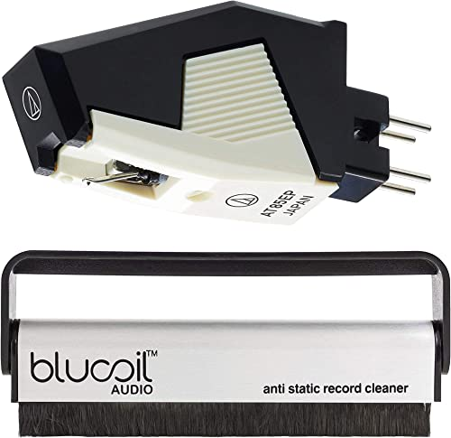 discount Audio online Technica AT85EP Dual Moving high quality Magnet Cartridge with Elliptical Stylus P Mount for P-Mount Turntables Bundle with Blucoil Carbon Anti-Static Vinyl Cleaning Brush outlet sale