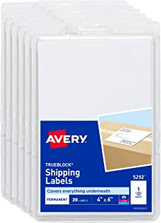 Avery Shipping Labels for Laser Printers, TrueBlock Technology, Permanent Adhesive, 4