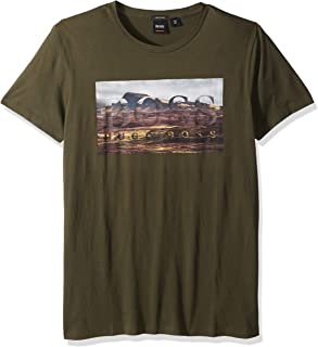 2bb3c6fa521 Hugo Boss Men s Teedog 1 Tee with Bhb Logo on Landscape Photo Print