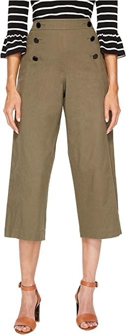 Kate Spade New York - Cropped Military Pants