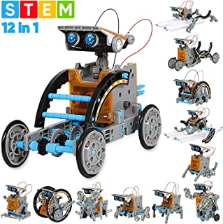 Sillbird STEM 12-in-1 Education Solar Robot Toys -190 Pieces DIY Building Science..