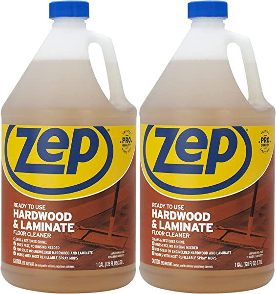 ZEP 硬木层压板地板清洁剂 128 盎司 ECZUHLF1282 包 2 个