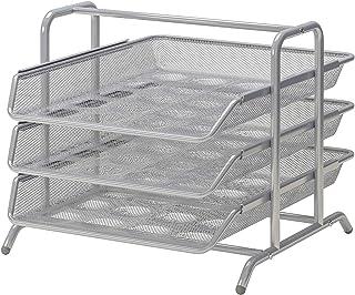 comprar comparacion Ikea Bandeja para Cartas, Metal, Gris, 38x29x5 cm