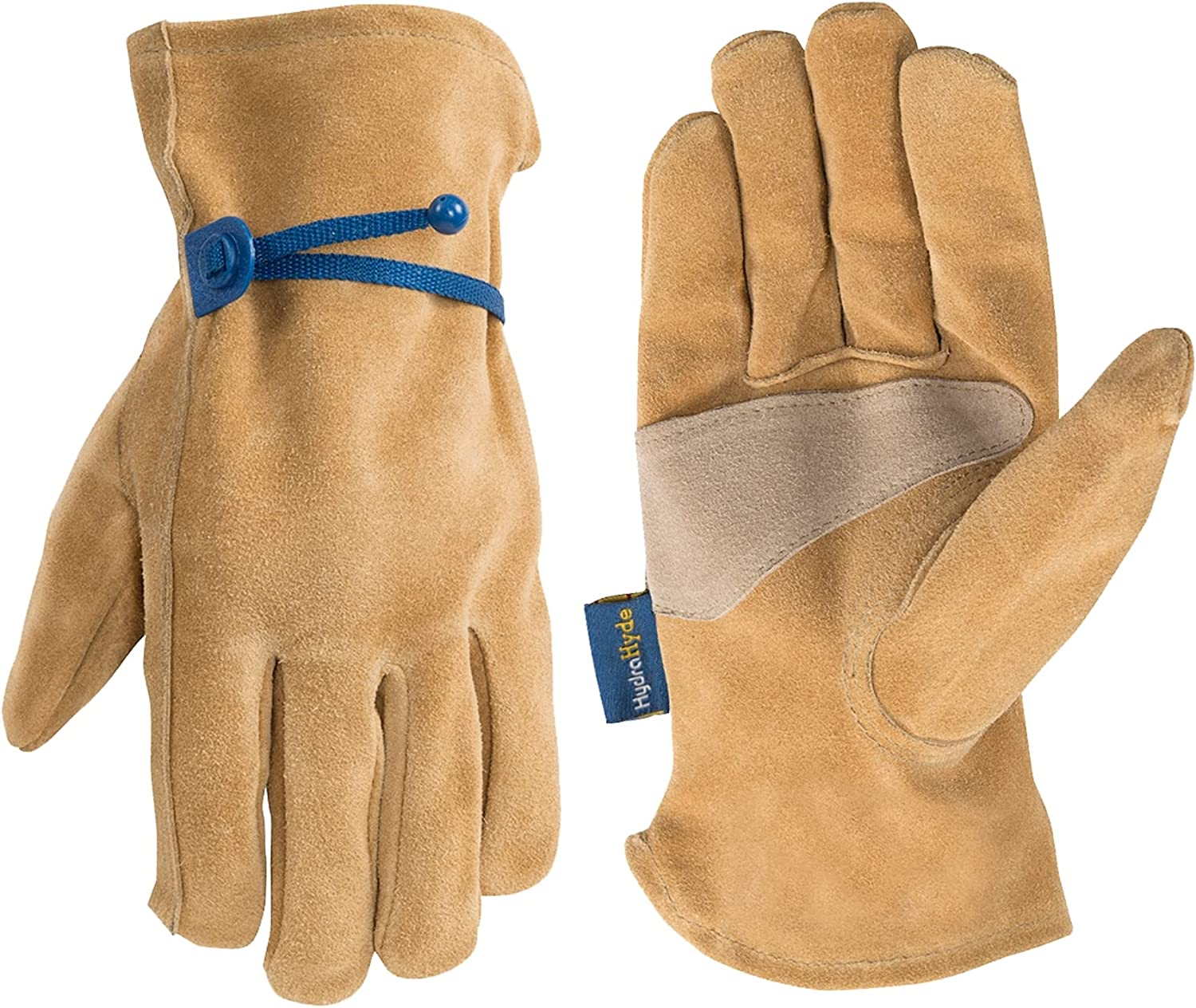Men's Genuine Split Leather Work Gloves M Adjustable Baltimore Mall Wrist Colorado Springs Mall with