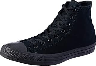 Converse Unisex Chuck Taylor Hi Basketball Shoe (9 Men 11 Women, Black Monochrome)