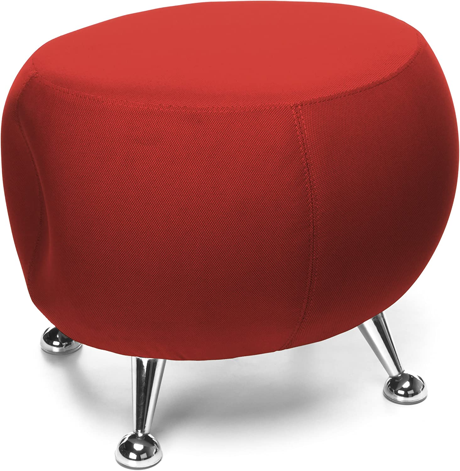 OFM Jupiter Series Fabric Ball Stool, in Red (2001-2312)
