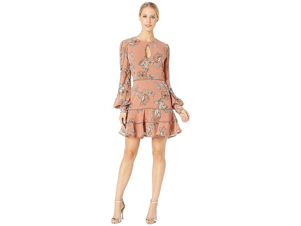 Image of Bardot Tammy Trim Dress (Chestnut) Women's Dress