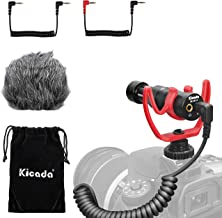 Universal Video Microphone, KICADA KM-MC10 Compact Microphone for Canon, Nikon, Camera and Camcorders, iPhone, Android Smartphone, Perfect Camera Shotgun Mic