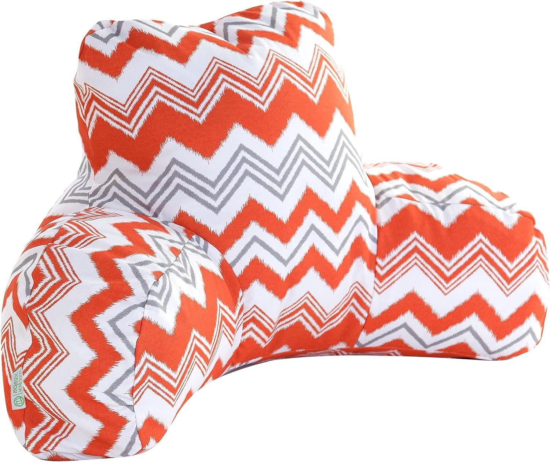 Majestic Home Goods orange Zazzle Reading Pillow
