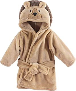 Hudson Baby Unisex Baby Plush Animal Face Robe, Lion, One...