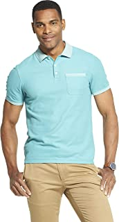 Men's Slim Fit Never Tuck Short Sleeve Solid Polo Shirt