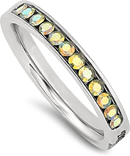 AB Princess Ring Trust Stainless Steel Christian Bible Scripture Jewelry