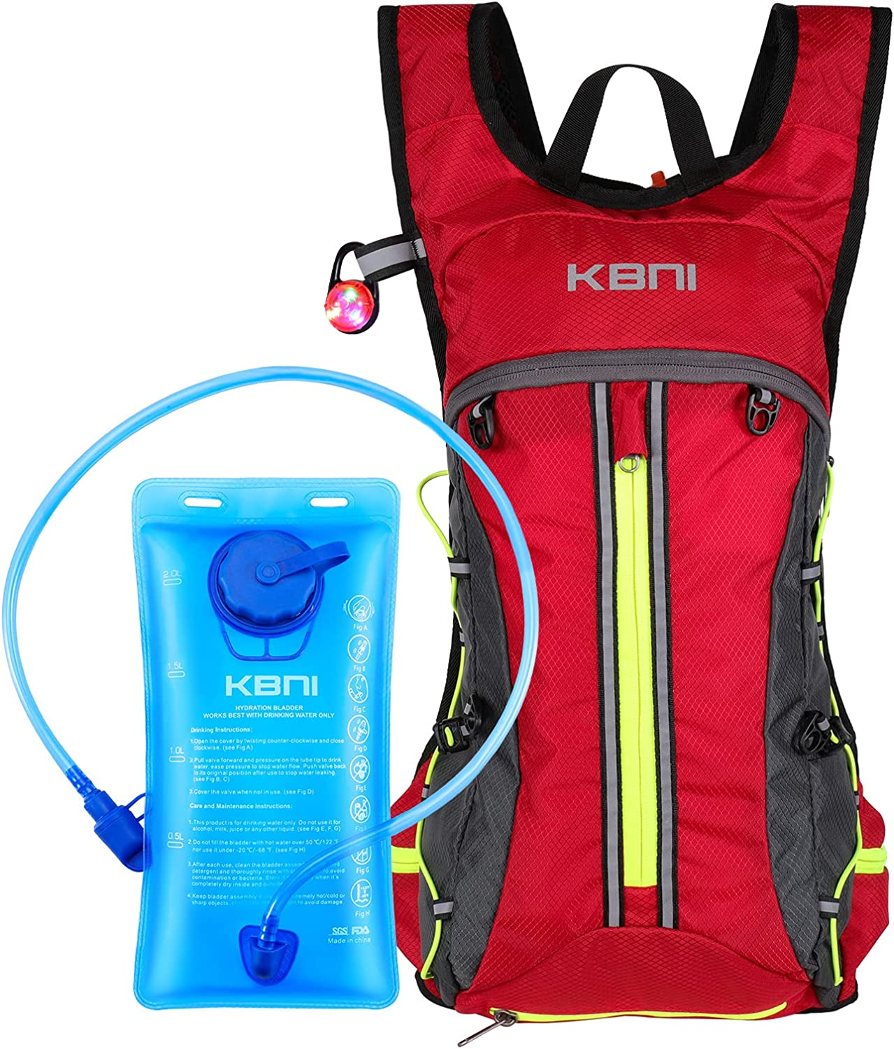 KBNI Hydration Backpack Max 87% OFF with mart 2L Water Portable Bladder Pac