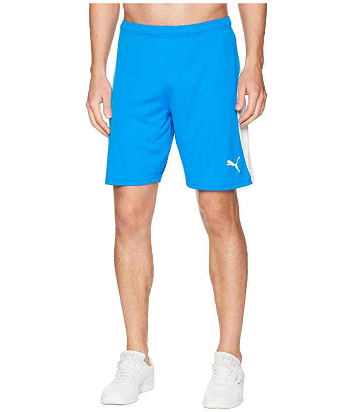PUMA Liga Shorts (Electric Blue Lemonade/Puma White) Men