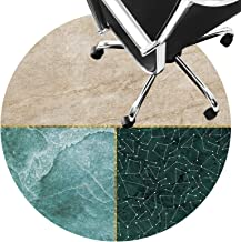 Office Rugs Carpet Floor mat for Office Chair Low Pile Carpet Non Slip Chair Mat Silent Floor Protector Mat for Wooden Flo...
