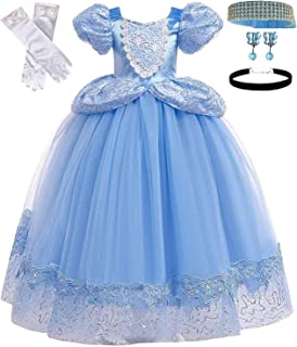 Princess Blue Cinderella Costume Party Dress-up Set