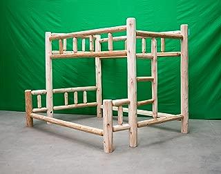 Midwest Log Furniture - Premium Log Bunkbed - Twin Over Full