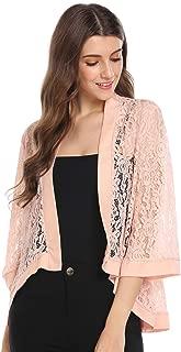 Best light pink 3 4 sleeve cardigan Reviews