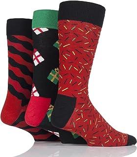 ZIGJOY Christmas Calze natalizie da uomo Calze Renne Babbo Natale Regalo di Natale regalo