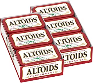 ALTOIDS Classic Peppermint Breath Mints, 1.76-Ounce Tin (Pack of 12)