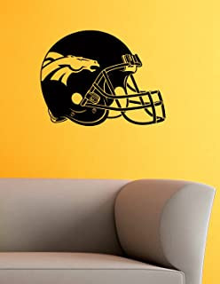 Denver Broncos Logo Wall Vinyl Decals American Football Logotype Helmet Game Team Vinyl Decals Vinyl Murals Stickers IL1112