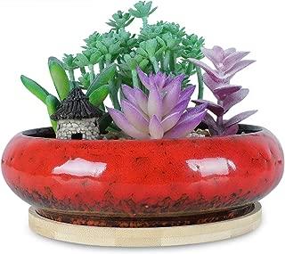 Best large red glazed garden pot Reviews