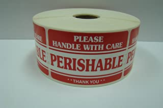 1 Roll of 100 2x3 PERISHABLE Handle with Care Shipping Mailing Labels Stickers