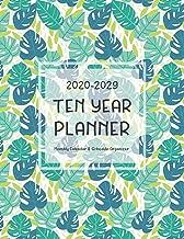 Ten Year Planner 2020-2029: Leaves Pattern   10 Year Calendar 2020 to 2029   120 Monthly Calendar   At a Glance Ten Year Planner   Schedule Organizer   Agenda Journal (10 Year Journal 2020-2029)