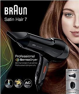 Braun Satin Hair 7 HD785 SensoDryer - Secador de pelo profesional, con sensor de temperatura, motor AC y tecnología iónica, 2000 W, color negro