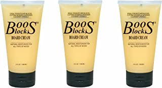 John Boos Block BWC-3 Butcher Block Board Cream, 5 ounce (Pack of 3)