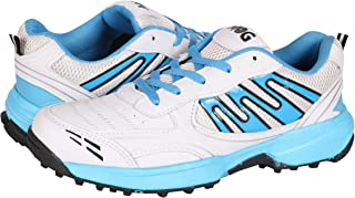 KDMG Cricket Shoes Rubber & Metal Spike Cricket, Hockey Sports Studs Indoor Out Door Trek Shoes