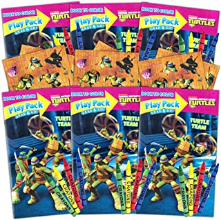 Teenage Mutant Ninja Turtles Ultimate Party Favors Packs -- 6 Sets with Stickers, Coloring Books and More (TMNT Party Supplies)