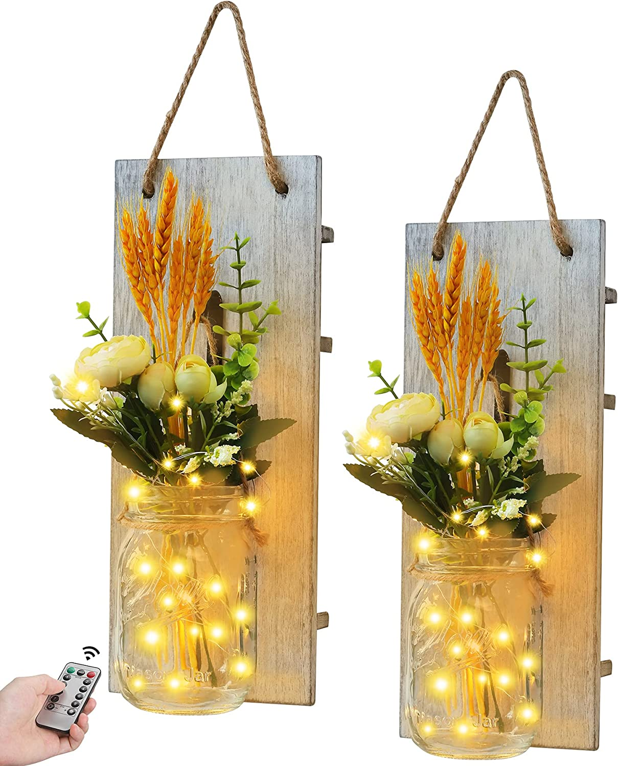 2Pcs Mason Jar with OFFicial site Fairy String Room for Wall Home Cheap mail order sales Decor Lights