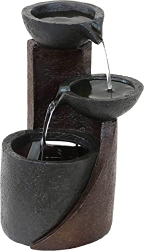 popular Sunnydaze Descending Bowls Indoor Tabletop outlet online sale Fountain - Interior Tiered Mini Water Feature for Bedroom sale Living Room Office Dining Room and Bathroom - 9-Inch online