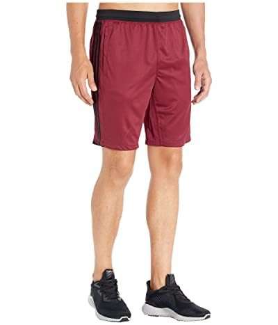 adidas 4Kraft 9 3-Stripe Shorts (Collegiate Burgundy/Heather) Men