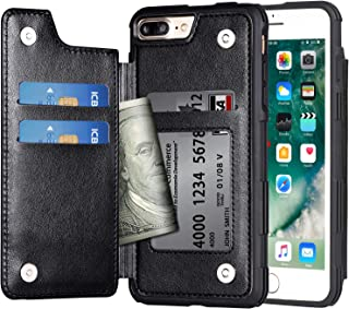 Arae Case for iPhone 7 Plus/iPhone 8 Plus - Wallet Case with PU Leather Card Pockets [Shockproof] Back Flip Cover for iPho...