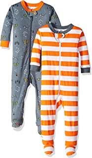 Baby Boys 2-Pack Footed Unionsuit