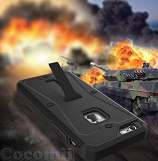 Cocomii Tank Armor iPhone 6S/6 Case NEW [Heavy Duty] Premium Built-in Screen Protector Kickstand Dustproof Shockproof Bumper [Military Defender] Full Body Rugged Cover for Apple iPhone 6S/6 (Ta.Black)