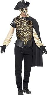 """Smiffy's Smiffys-43742L Disfraz de médico de la época de la Peste, con Parte de Arriba, Capa, Guantes y y, Color Negro, L - Tamaño 42""""-44"""" 43742L"""