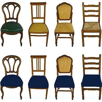 Banzaii 6 Pezzi Coprisedia Universale Senza Schienale Subito Fatto per Sedie da Ufficio, Cucina, Sala da Pranzo, Camera, Hotel o Ristorante in Tessuto