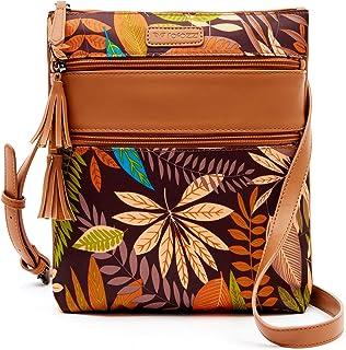 Bolsas de mujer - bandolera con borla - Bolso de hombro con triple bolsillo con cremallera - Mediano