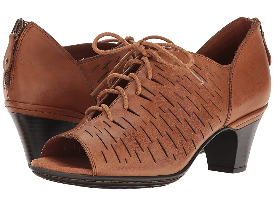 Rockport Cobb Hill Collection Cobb Hill Spencer Perforated Lace-Up (Tan Leather) Women