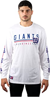 Ultra Game NFL Men's T-Shirt Active Basic Long Sleeve Tee Shirt