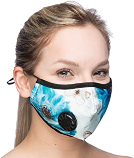 Debrief Me Dust Mask – Anti Pollution Breathable Respirator Mask (1 Mask + 6 Filters) Military Grade N99 Flu Mask Carbon Activated Filtration - Reusable Washable - Comfy Cotton Adjustable (Lotus)